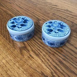 Vintage Accents - Porcelain Trinket Boxes